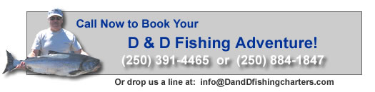 Call 250.391.4465 now to book your D&D Fishing Adventure!